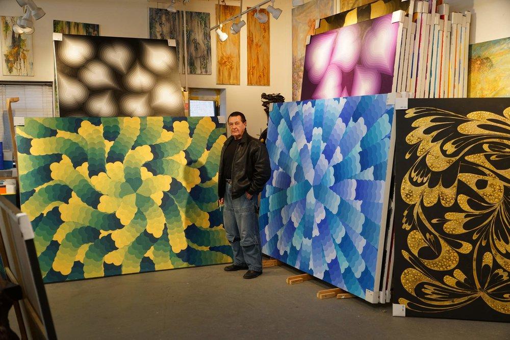 Vladimir Nazarov with Hearts in Studio