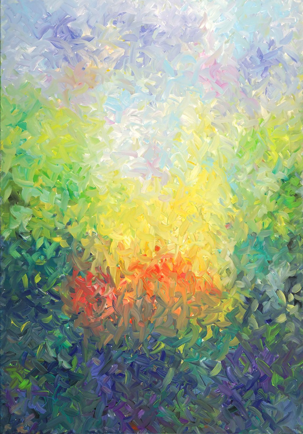 "A Delicate Kind of Light 84""H x 60""W"