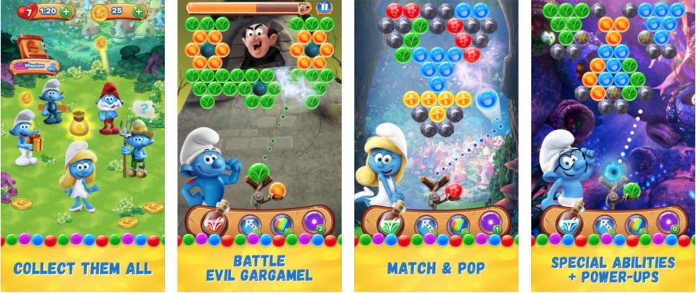Smurfs Bubble Story Screen Shots