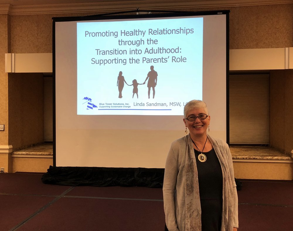 "Arc of Illinois Living with Autism Conference - October 2, 2018  Linda Sandman, Co-Director at Blue Tower Solutions, Inc. spoke at the Arc of Illinois Living with Autism Conference this week (October 2nd). Her topic was ""Promoting Healthy Relationships Through the Transition into Adulthood: Supporting the Parents' Role"". Linda says, ""It was a welcoming and inspiring conference! Many thanks to the Arc of Illinois and The Autism Program (TAP) for sponsoring it.""  While at the Conference, Linda learned about several impressive self-advocates with autism. One is named Jeremy Sicile-Kira. His mother, Chantal Sicile-Kira spoke at the conference and shared about Jeremy's journey to becoming a successful artist. Jeremy has synesthesia and is able to translate the emotions of people he has met into incredible portraits. It is definitely worth your time to check out his website:  https://www.jeremysvision.com/   The second self-advocate, Kerry Magro, is an accomplished speaker with an amazing resume. He has undertaken a very cool project to assemble short videos by self-advocates around the world speaking about their passions and what makes them unique in the world. You can find these videos on the Facebook page:  https://www.facebook.com/ASpecialCommunity/"