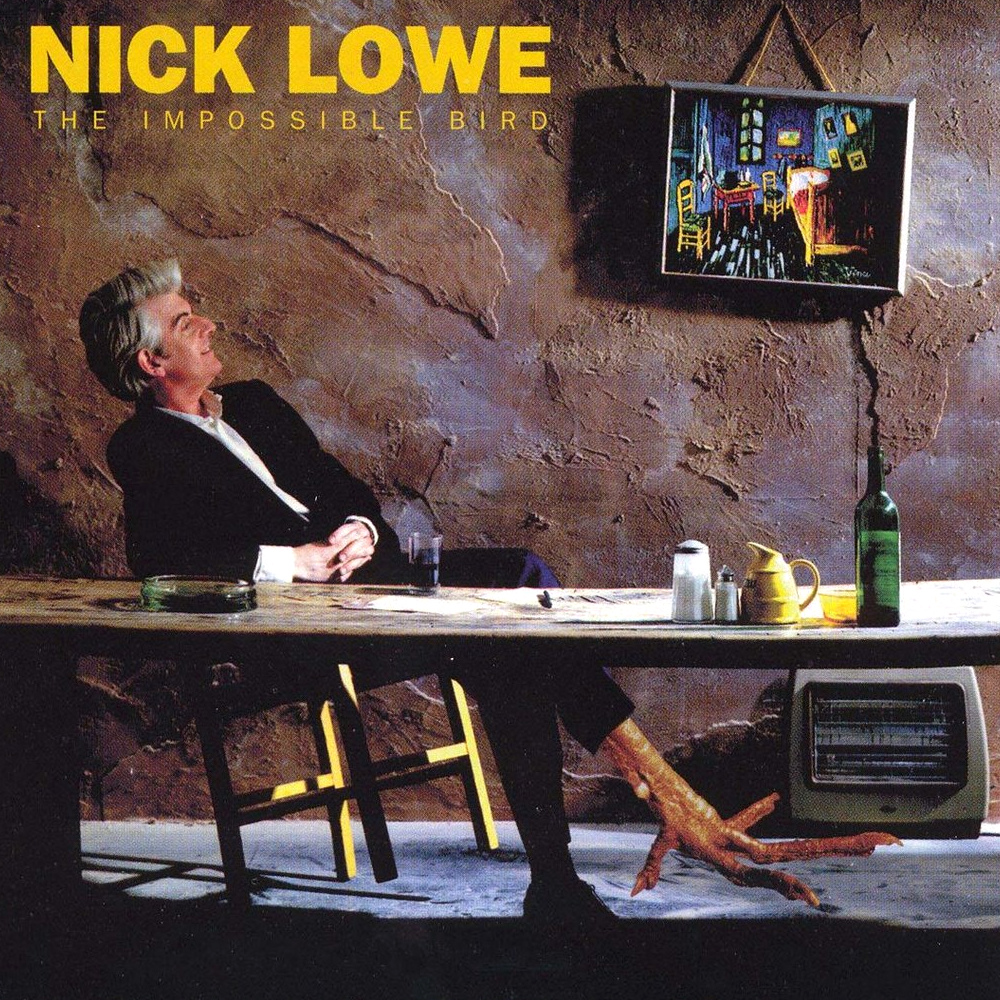 Nick Lowe album cover - The Impossible Bird