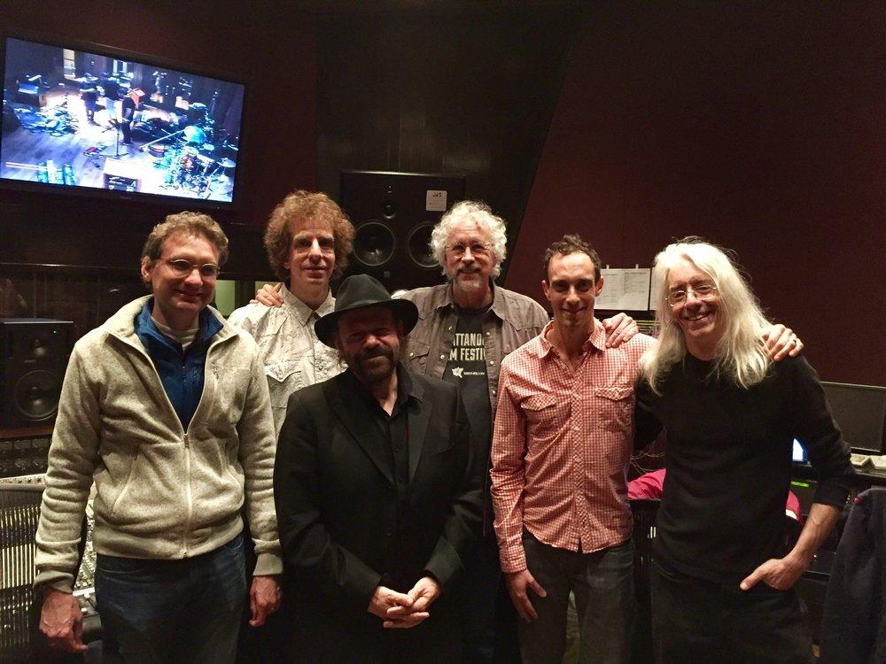 """Faith In Doubt"" Blackbird sessions, L to R: Viktor Krauss, Mark Rubel, Colin Linden, Rick Clark, Jano Rix, Ross Rice"