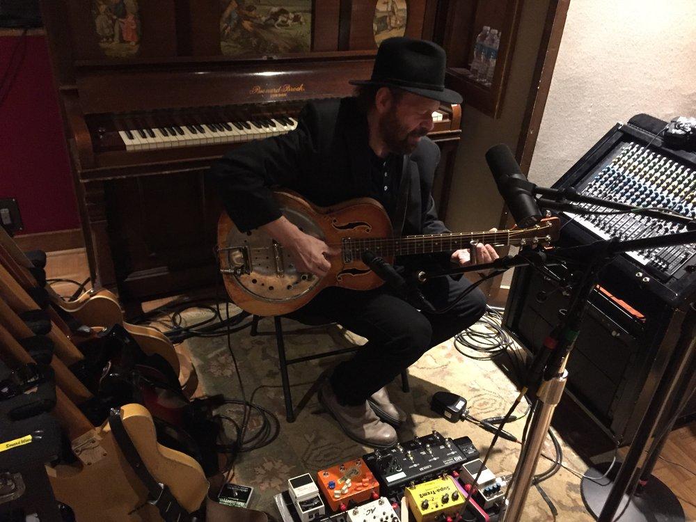 """Highway 79"" Blackbird sessions - Colin Linden on lead guitar (photo credit: Rick Clark)"