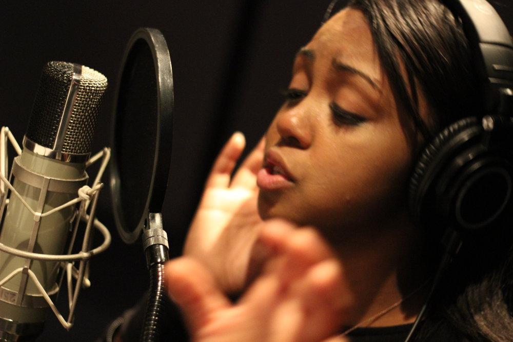 Sarina-Joi Crowe at Blackbird Studio for Disco Slam sessions