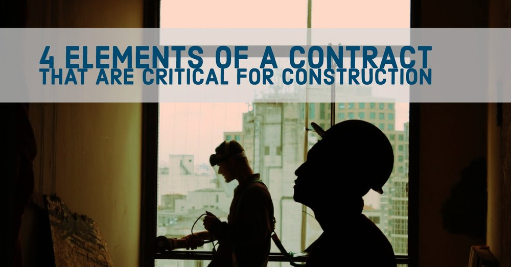 4 ELEMENTS OF A CONTRACT