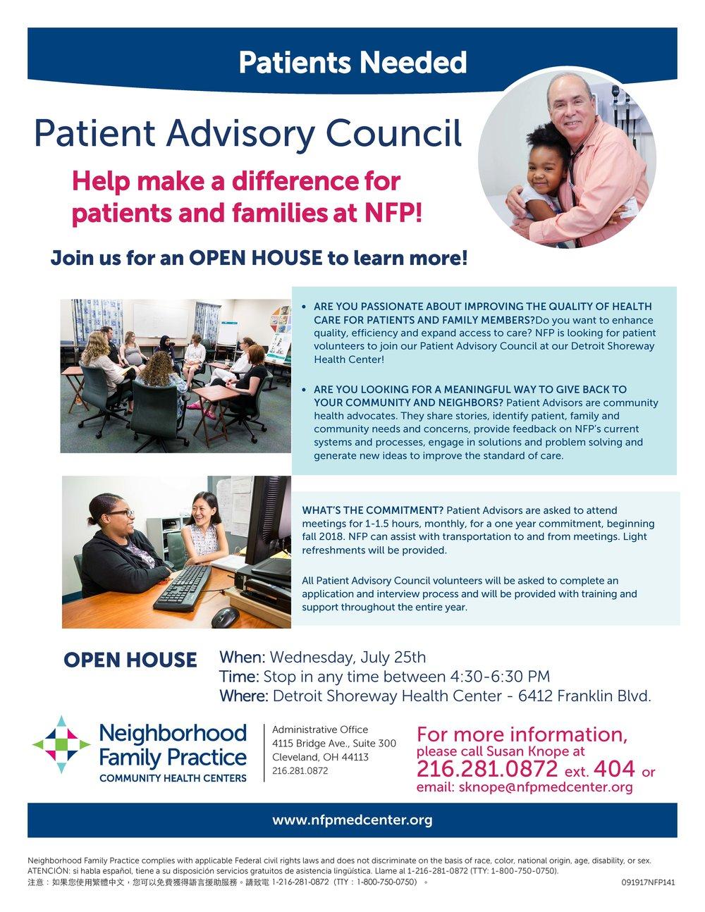 PatientAdvisoryCouncilRecruitmentOpen House Flyer.jpg