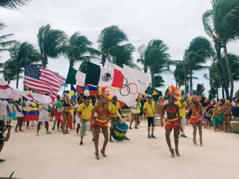 Barceló celebrated the opening day of the 2016 Olympic Games.