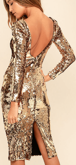 Lulus Gold Sequin New Year's Eve Dress.png