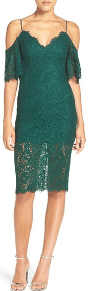 Nordstrom Green Lace New Year's Eve Dress.png