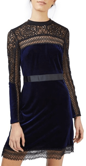 Nordstrom Lace and Velvet New Years Eve Dress.png