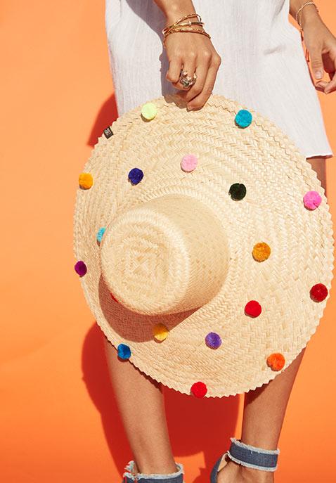 Nannacay Pom Pom Sun Hat