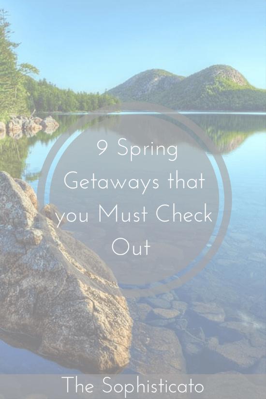 Spring Getaways Pin