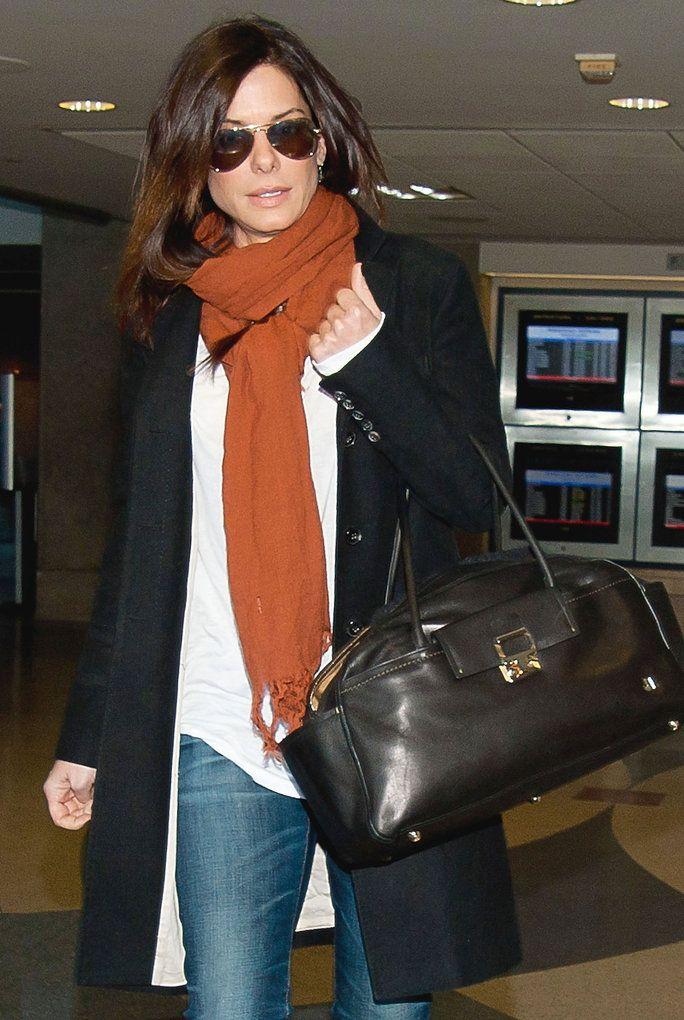 Sandra Bullock Airport Style