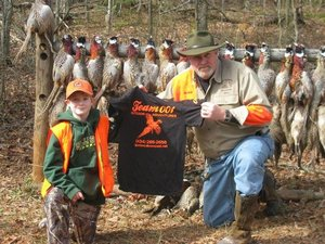 Ike with one of America's future hunters