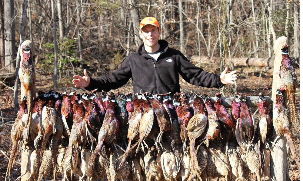 Will Payne after a '001 Outdoors' pheasant hunt