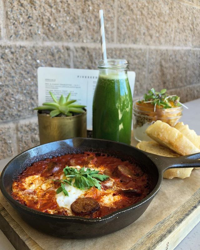 Can't decide between savory or sweet for breakfast?! Luckily, on weekends we've got you covered! 🙌🏽 choose between the infamous shakshouka or avocado toast for savory and chia pudding or granola for sweet - with a final choice of apple, fresh squeezed orange or healthy green juice. 🍊Checkout our weekend specials Friday-Sunday. ✨ #parkcityeats #fiveseeds #brunch #shakshouka #granola #parkcitybrunch #foodie #breakfast #IGfoodie #five5eeds #five5eedsparkcity #eatgoodfeelgood #fromscratch