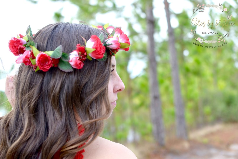 Sweetheart floral halo