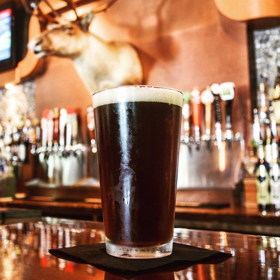 Dark beer in bar