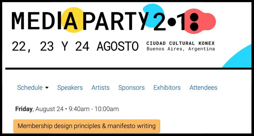 Media Party 2018 - Led a workshop on membership design principles, member listening, and value proposition communication at Media Party — Latin America's leading conference on journalism innovation.