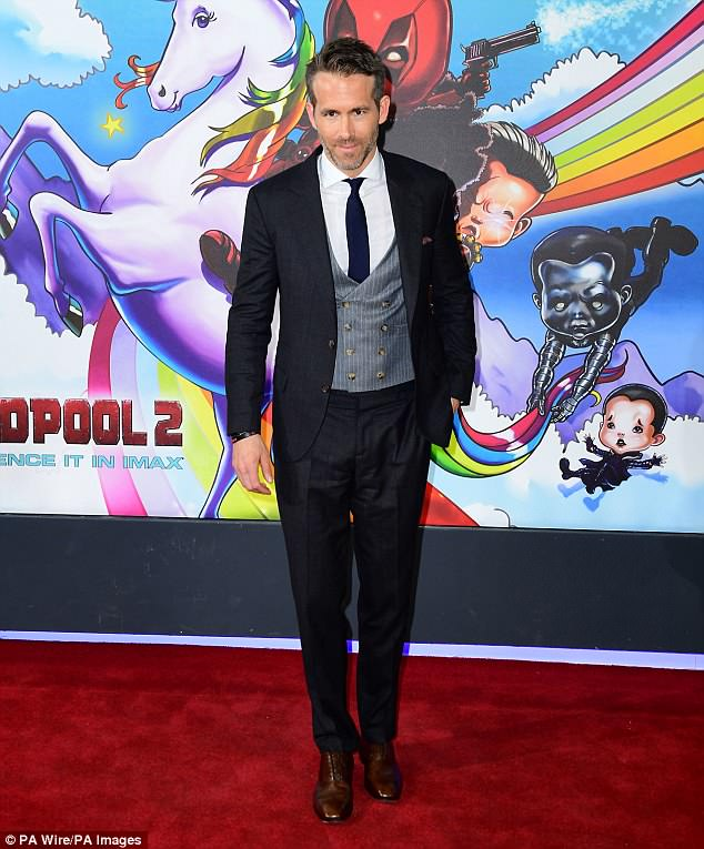 Ryan Reynolds has an eye for well tailored, Italian suits cut in a classic, gentlemanly style. He stepped out in 3 different looks from his go-to Brunello Cucinelli last year. He arrived to the LA premier of Deadpool 2 wearing a dark grey suit, complimented by a light, tan brown double breasted waistcoat. He donned a similar look at the London premier of his hit movie, this time opting for a navy suit and light grey waistcoat. Reynolds and his wife, Blake Lively walked the red carpet of Time Magazine's 100 most influential people in New York City in September, and the star once again wore head to toe Cucinelli, this time opting for a slim cut, navy Tuxedo with a black satin lapel, complemented by this matching bow tie. -