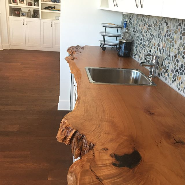 12' single slab Maple Bar top we installed just a bit ago. Turned out amazing. #bartop #design #liveedge #table #custom #wood #maple #yyj #westcoast #furniture  #woodworking #nofilter