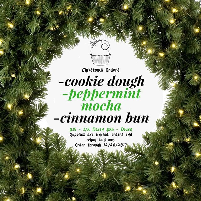 Christmas orders are here, but not for long! Order now through December 20, while supplies last. We have COOKIE DOUGH, PEPPERMINT MOCHA & CINNAMON BUN 🎄 To order, message us on any of our social media platforms or through our website.