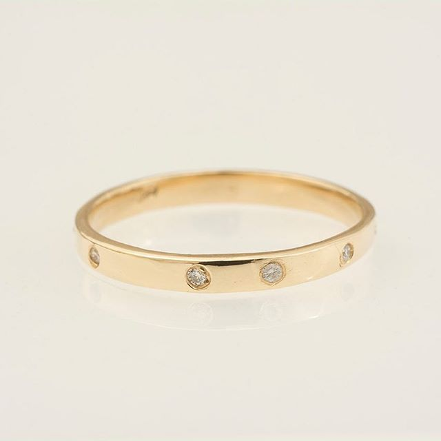 14K Yellow Gold and Diamond Band.