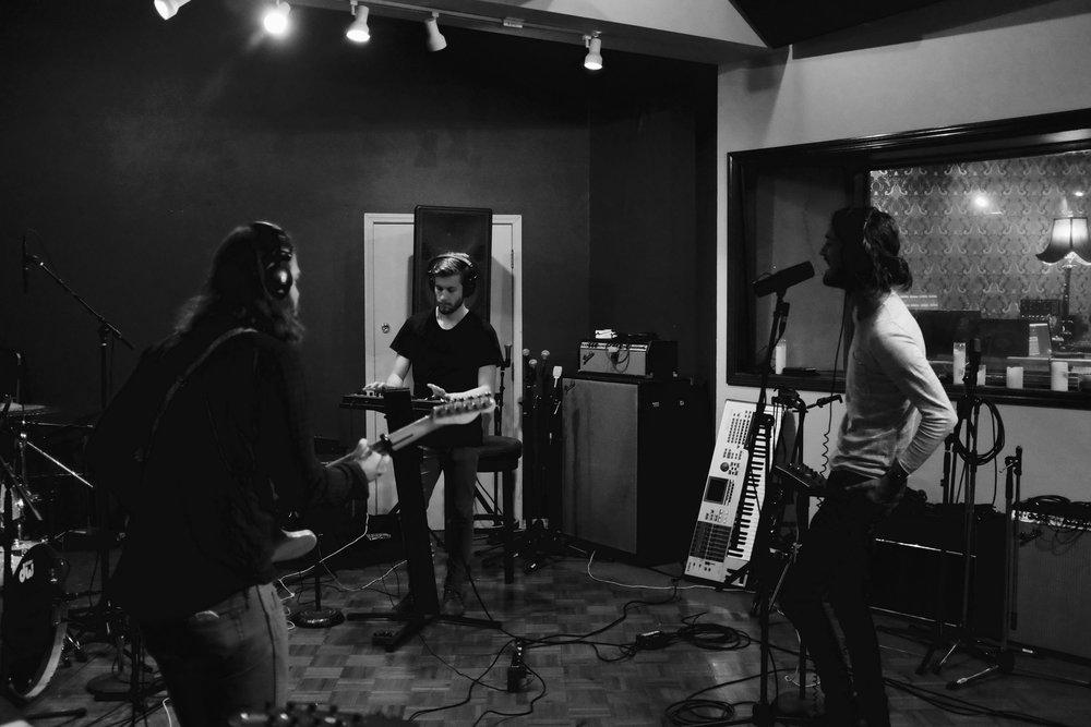 Brumby recording at Battle Born Studios