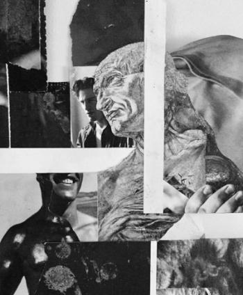 Nathan Usher. Detail mixed media collage.