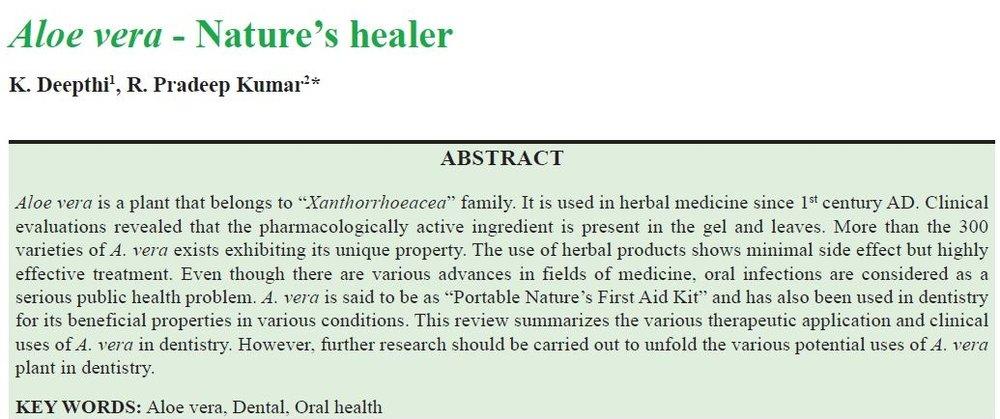 Aloe Vera - Nature's healer -