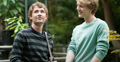 Keegan Joyce plays Arnold in 'Please Like Me' (Left) and Josh Thomas, the shows creator and lead (Right).
