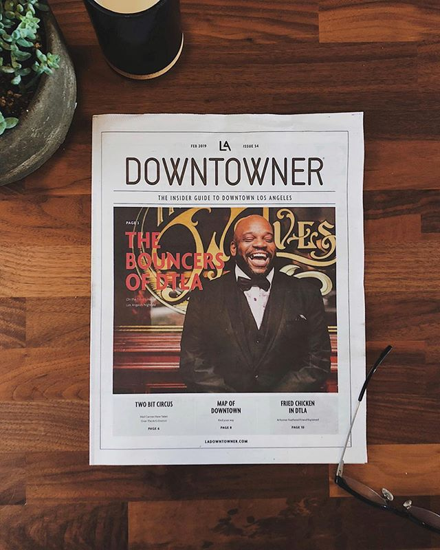 We know we've been kind of MIA lately guys, but 2019 has already been one for the books! We're super excited landing the cover in @ladowntowner 's February issue, and from the moment we were approached with the idea of this piece, we couldn't be any more pumped about it. We sat down to chat with three of the very hospitable and interesting gentleman that hold down the door at some of your favorite bars across DTLA. Find @ladowntowner on newsstands and some of your favorite spots  from Koreatown to the Arts District and beyond! -  Thank you @strutz for spotting our work and the great capture!