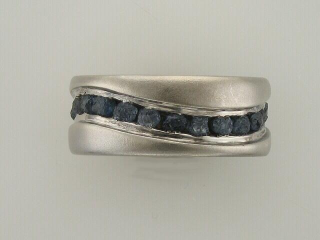 Raw Sapphire Ring - Platinum