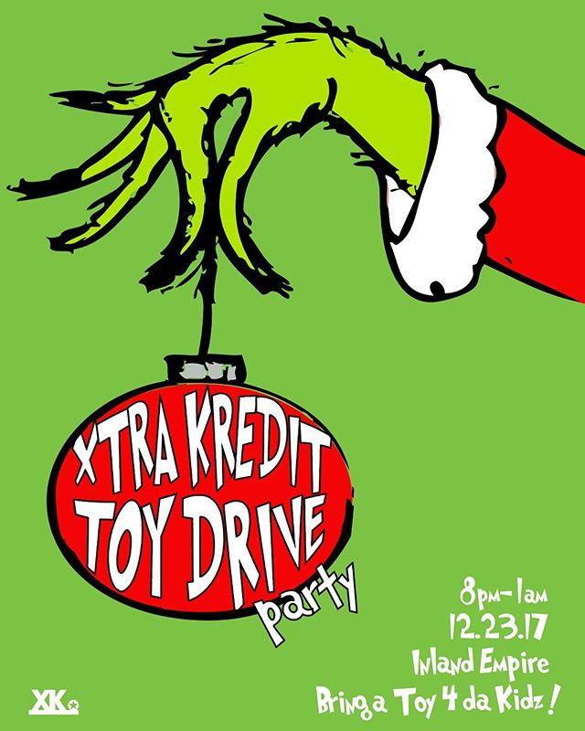 Join us tonight ! Bring a toy and turn up 4 da kidz! DM me for the address. #xkluhdakidz