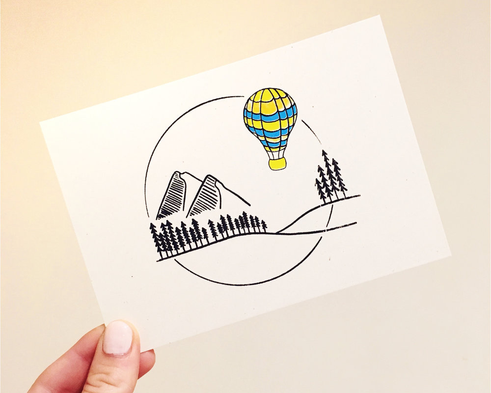 Step 3: The final artwork printed as a A6 postcard.