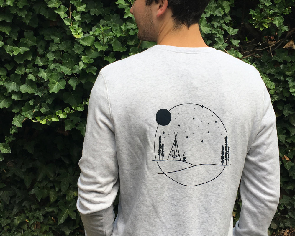 Back design on a sweater