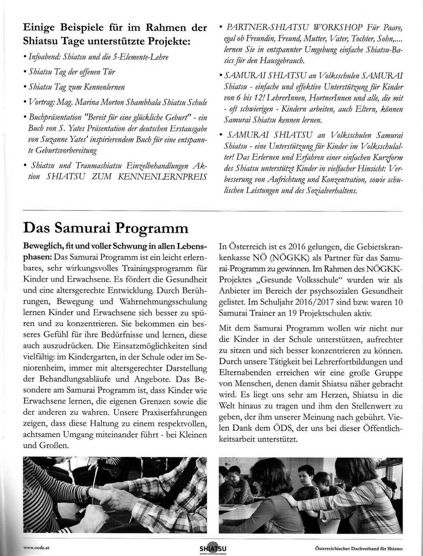 Samurai im ÖDS Jahresbericht 2016