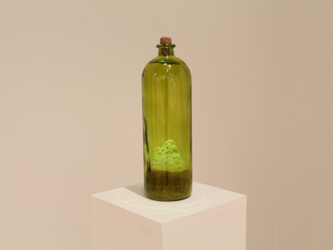 Marc Tomko, Studio Dust (a year's worth), 2014, dust in a glass bottle. Image courtesy of Hallwalls Contemporary Arts Center.