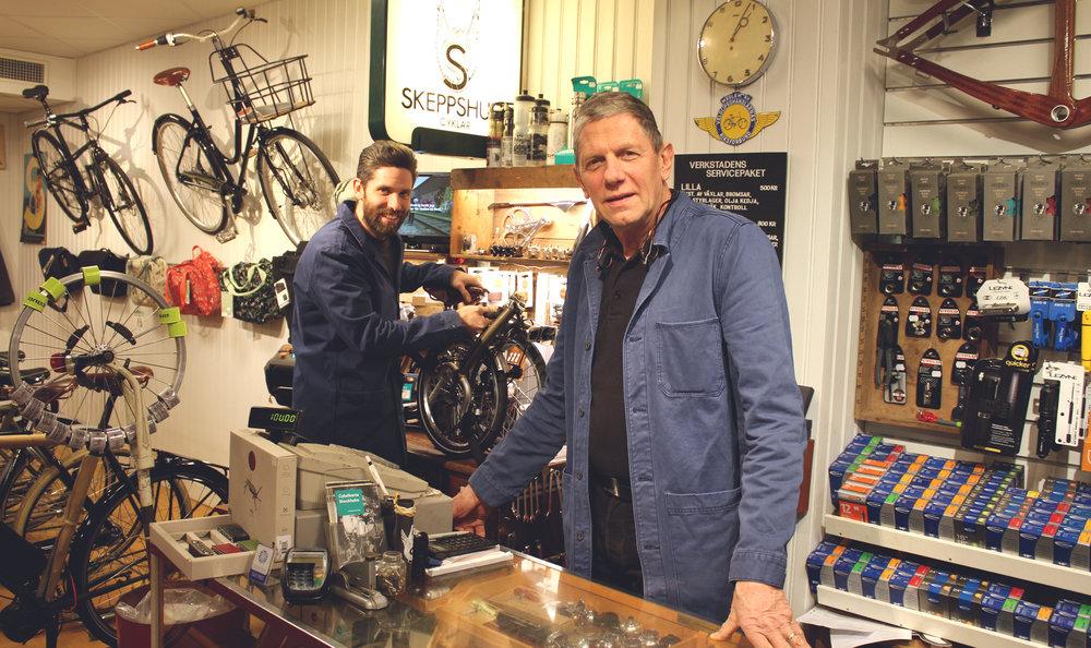 Son och far Martin och Lars-Åke Fredberg