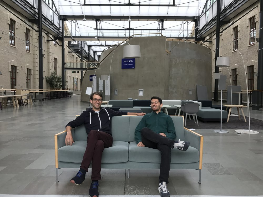 Nicolas Maxant and Miguel Estruch. The first ever Mimbly employees.