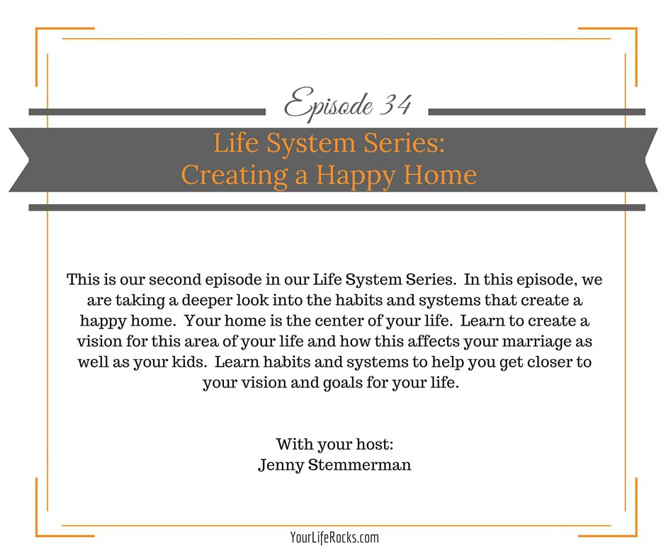 Episode 34: Life Systems Series: Creating a Happy Home