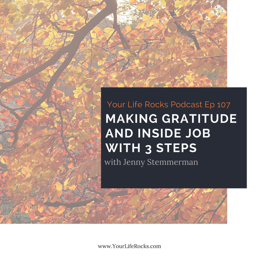 Episode 107: Making Gratitude and Inside Job with 3 Steps
