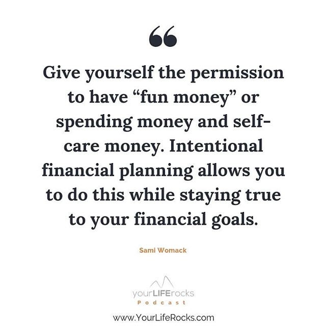 Do you have this line item in your budget? . This is the kind of thing that makes budgets more fun and a good reminder for the weekend. . I spend my money on massages, lattes, audible, and taking classes to better myself. . What do you spend your #funmoney on? . . #podcastforwomen #workingmom #selfcarehacks #momlifebalance