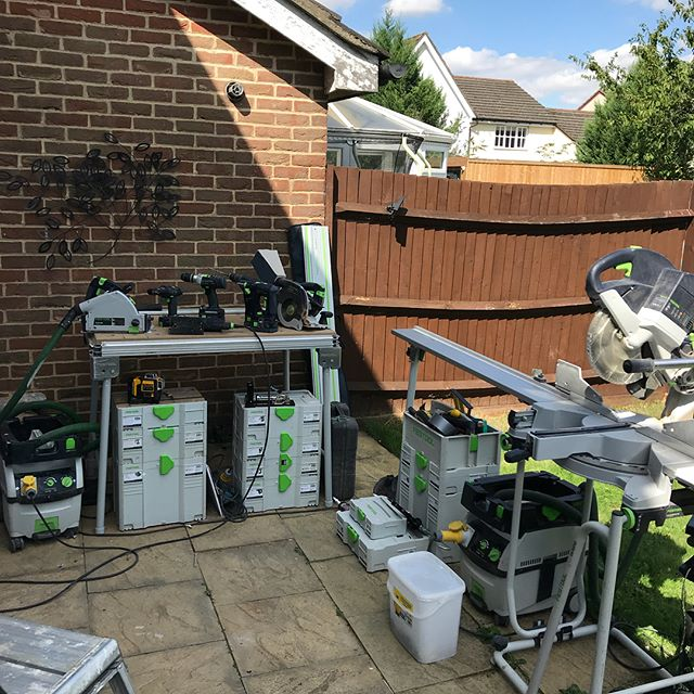 Today's set up, putting the new MFT table to use, thanks Ryan @healystools for another great deal #festool
