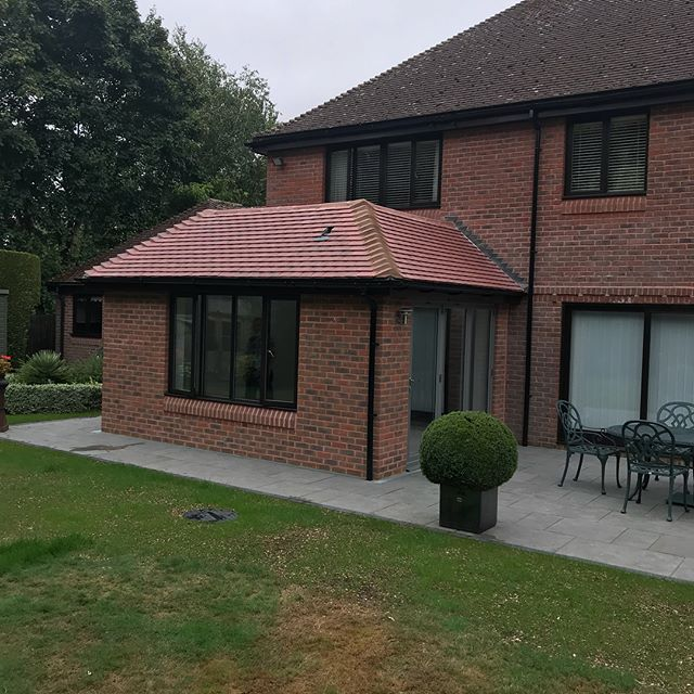 Another recently completed extension with knock through,kitchen and patio area  just waiting for customer to source pendant lights over island for this one to be 100% @kitchenergonomics @mvelectricalengineers @thehertfordshireroofingco