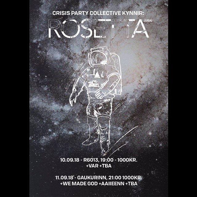 This one will be heavy ⚔️ we are to support the mighty @rosetta_band 🙏🏻