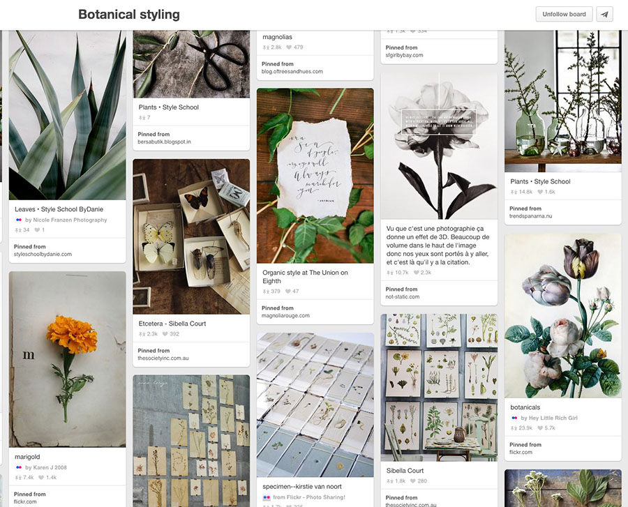 Pinterest strategies by Nellaino I Botanical styling curated wedding board by Petra Veikkola I Pinterest for business