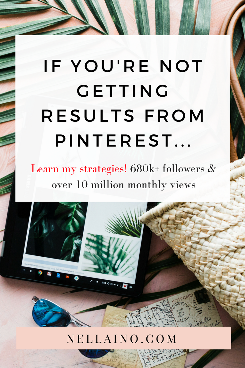 Pinterest strategies for pro pinners and content creators! Visit my site and join the new Pinterest Strategy Program. I will help you to create a perfect strategy for your Pinterest marketing. More time on the beach, less time on Pinterest! www.nellaino.com #pinterestmarketing #pinteresttips #pintereststrategy #sosiaalinenmedia #digimarkkinointi