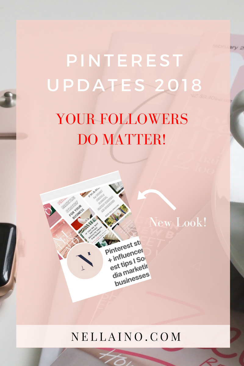 New Pinterest updates to better reach your followers on Pinterest. Read about new updates www.nellaino.com #visualmarketing #pinterestnews #pinterestupdate #pinterest2018 #pinteresthelp