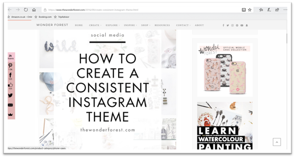 Instagram theme creation and ideas